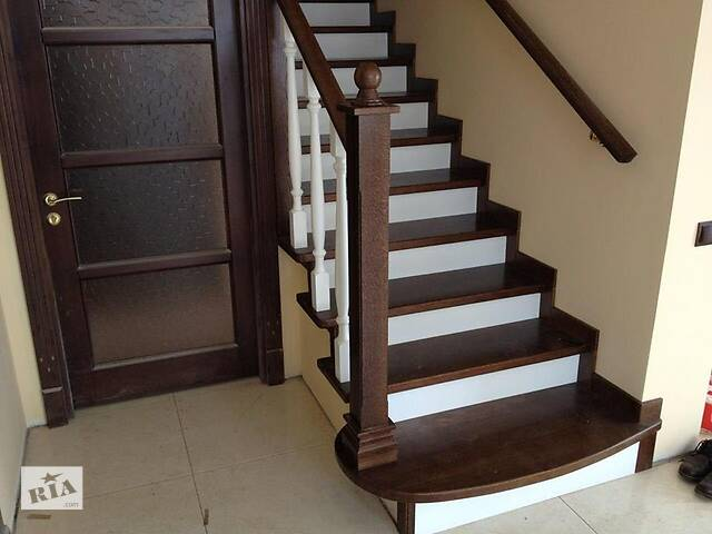 бу Лестница, лестница, балясины, перила, подступени*Покупайте у производителя в Городке