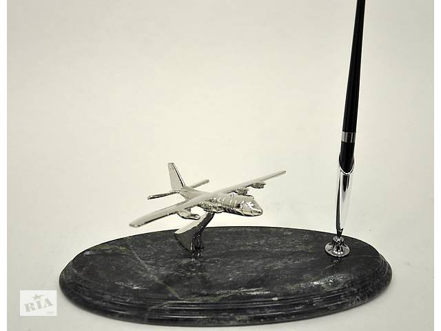 купить бу Подставка для ручки BST 540052 24х10 с самолетом мраморная в Одесі
