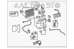 Печка в сборе Lexus LS460 07-12 без мотора 87050-50144 разборка Алето Авто запчасти Лексус ЛС