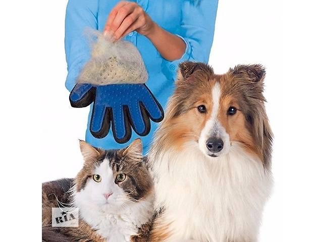продам Перчатка Фурминатор Оригинальная True Touch для вычесывания шерсти собак и кошек мягкий силикон бу в Полтаве