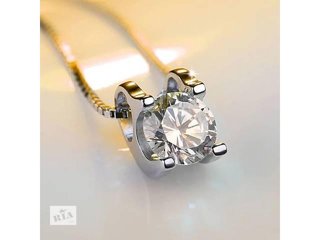 купить бу Платиновое колье с бриллиантом в Харькове