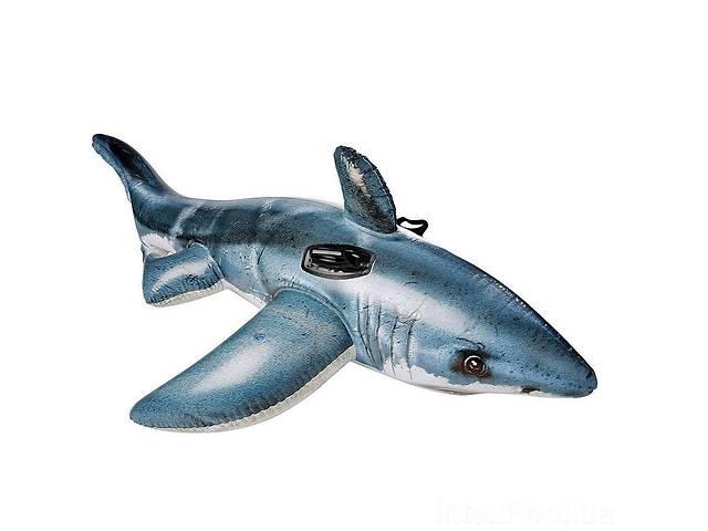 купить бу Детский надувной плотик для катания Intex 57525 «Белая Акула», 173*107 см в Дубні
