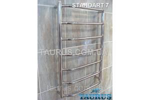 Полотенцесушитель водяній Standart 7/750 х 400 мм з полірованої н/ж сталі. Перемички з трапеції