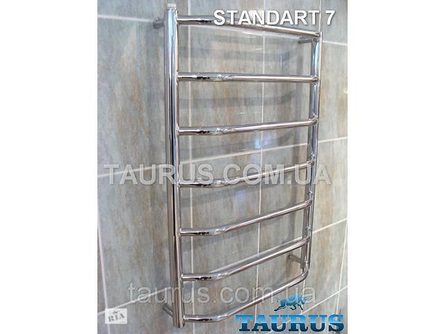 бу Полотенцесушитель водяній Standart 7/750 х 400 мм з полірованої н/ж сталі. Перемички з трапеції в Смілі