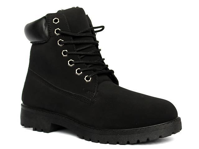 продам Полностью черные мужские ботинки в стиле Timberland. бу в Днепре (Днепропетровск)