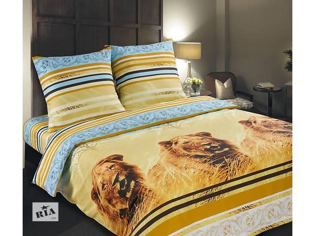 продам Полуторный комплект постельного белья из поплина 100% хлопок бу в Киеве