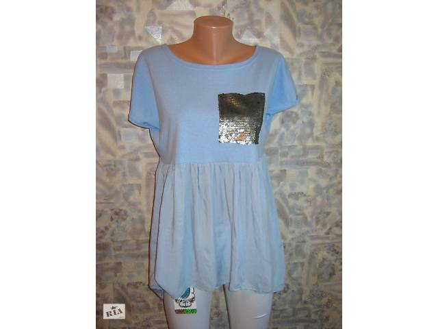 купить бу Туника летняя  модная для беременных с паетками, р-р  L-XL в Северодонецке