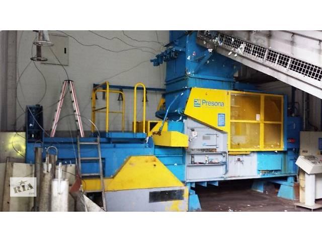 купить бу Пресс автоматический для вторсырья (макулатуры, ПЭТ) Presona, 40 тонн в Киеве