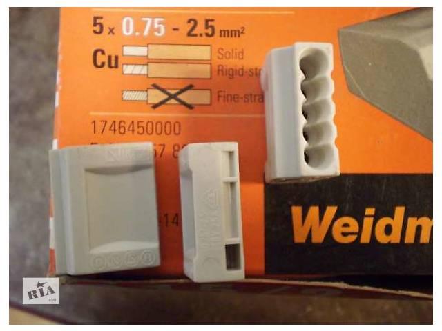 купить бу Продам Клемма Weidmuller D1.5/2.5-5, 5- полюсов, сечение провода 0,75-2,5  в Украине