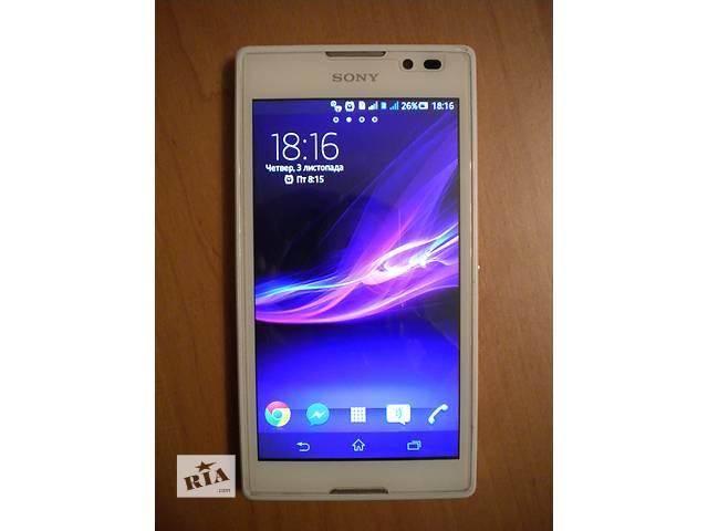 бу Продам смартфон sony xperia c2305 белый + чехлы + защитный экран + пленка в Ивано-Франковске