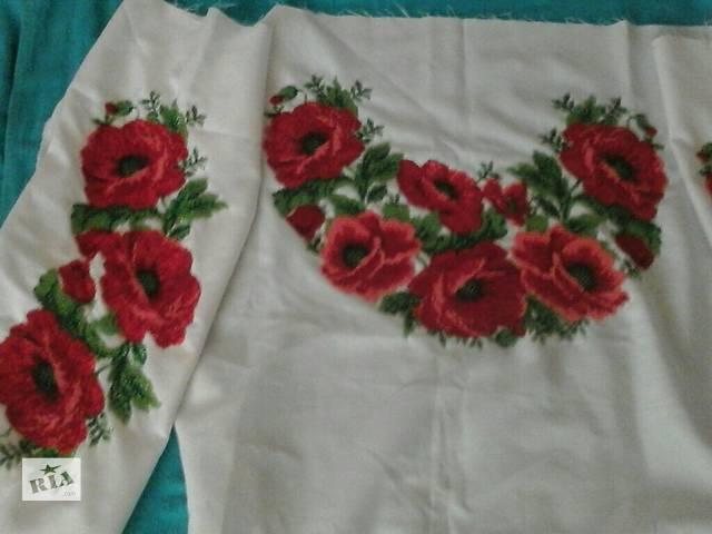 продам Продам вышитую бисером заготовку на женскую рубашку бу в Ровно