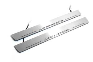 Продажа защитные накладки на пороги с подсветкой LED Ford Mondeo V 2014+