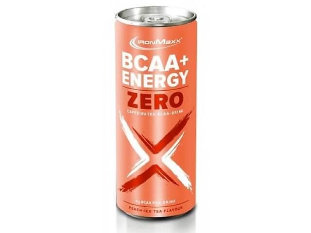 купить бу Аминокислоты в виде напитка IronMaxx BCAA+Energy Zero Drink - 330 мл (банка) - Тропический в Полтаве