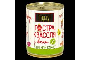 Гостра квасоля Hapay& trade; з овочами Чилі кон карне з/б 340г Zdorovo (HAP-я0000003386)