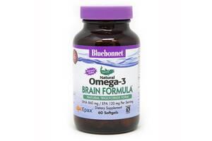 Омега-3 Формула для мозга Bluebonnet Nutrition Omega-3 Brain Formula 60 желатиновых капсул