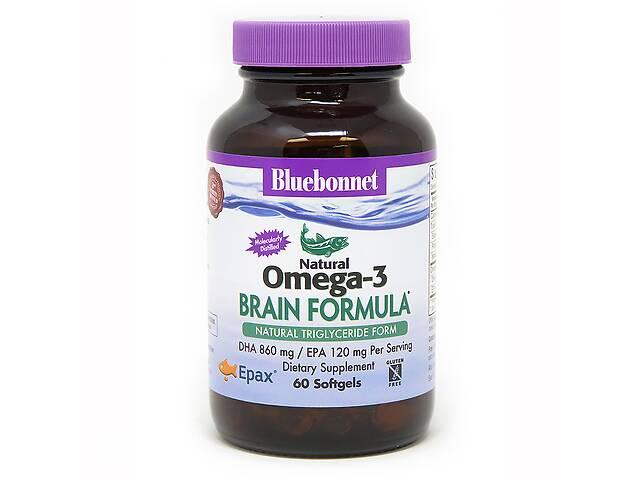 бу Омега-3 Формула для мозга Bluebonnet Nutrition Omega-3 Brain Formula 60 желатиновых капсул в Киеве