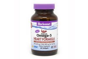 Омега-3 Формула для сердца Bluebonnet Nutrition Omega-3 Heart Formula 60 желатиновых капсул