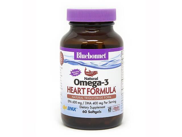 продам Омега-3 Формула для сердца Bluebonnet Nutrition Omega-3 Heart Formula 60 желатиновых капсул бу в Киеве