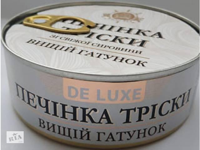 купить бу Печень трески натуральная DE LUXE высший сорт 230 гр Латвия в Киеве