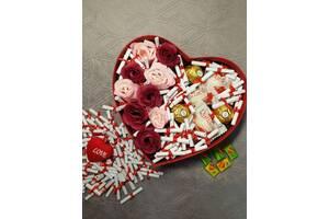 Подарочный Набор Боск с мыльными розами и любовными записками