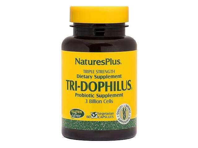 продам Пробиотики Тройная Сила, Tri-Dophilus, Nature's Plus, 60 Вегетарианских Капсул бу в Киеве