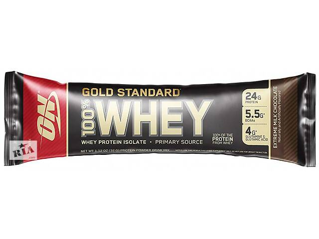 купить бу Протеин Optimum Nutrition Gold Standard 100% Whey 32 г extreme milk chocolate в Полтаве