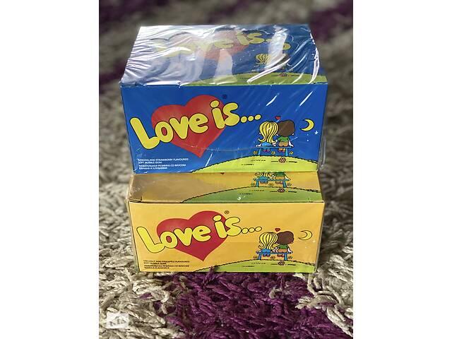 Жвачки LOVE IS. В упаковке - 100 жвачек. Классный подарок девушке на 8 марта- объявление о продаже  в Тернополе
