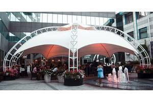Проектирование, производство и монтаж, металлокаркасных шатров.