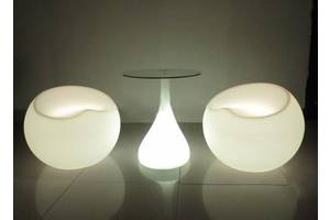 Прокат, аренда светящейся светодиодной LED лед мебели
