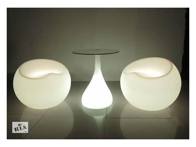 бу Прокат, аренда светящейся светодиодной LED лед мебели в Киеве