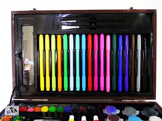 бу Набор для рисования 123 предмета - Деревянный чемодан  в Украине