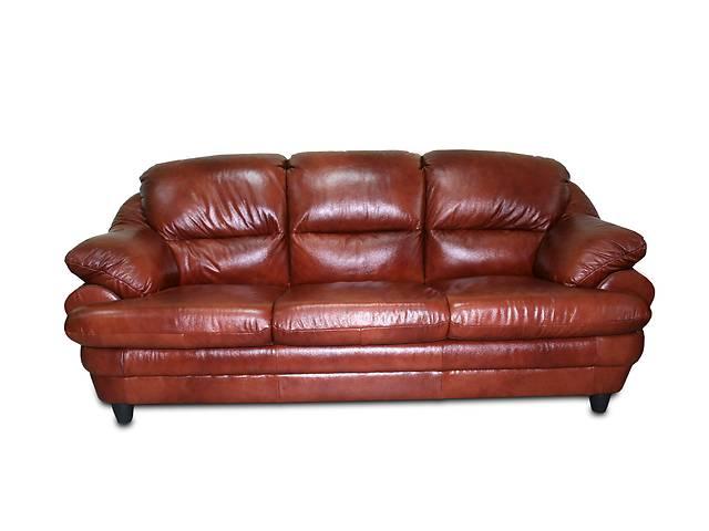 Раскладной диван в коже SARA 3р. Польша.- объявление о продаже  в Киеве