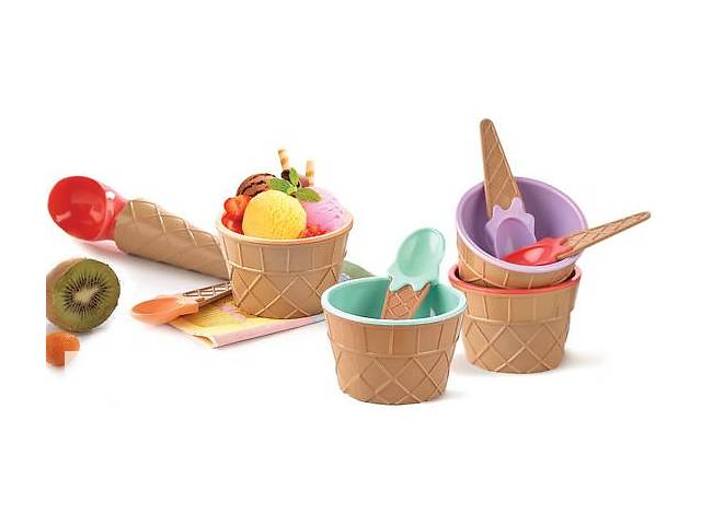 бу Набор для мороженого Qlux 9 предметов, пластик в Одессе