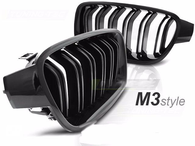 бу Решетка радиатора ноздри BMW F30 F31 стиль М3 черный глянц. GRBM51 в Луцке