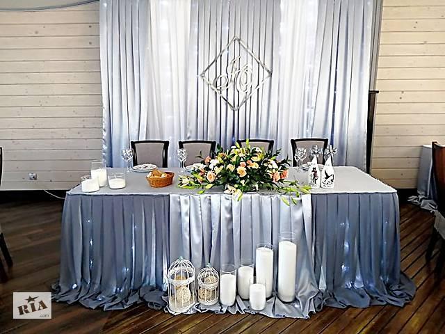 Аренда декора украшения свадебного стола, фотозона, чехлы на стулья- объявление о продаже  в Житомирской области