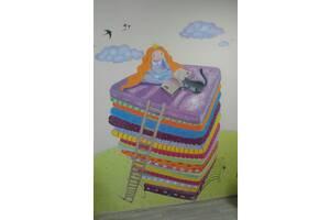 Розпис стін в дитячій кімнаті.