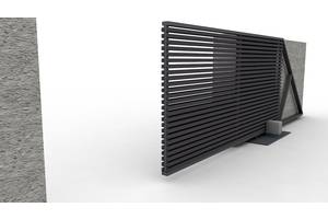 Современный дизайн откатных ворот