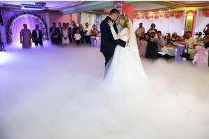 Тяжелый дым на первый танец - равномерно ложится по полу и не подымается выше 1 метра!!!