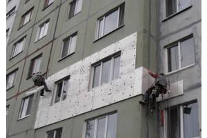 Утепление фасадов на любой высоте. Альпинисты промышленные