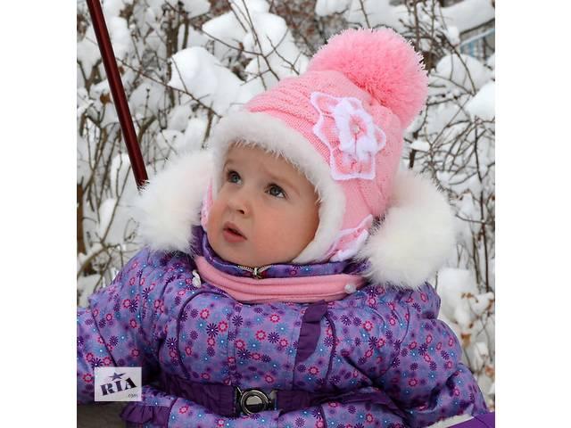 продам шапка и шарф зимние для девочки бу в Николаеве (Львовской обл.)