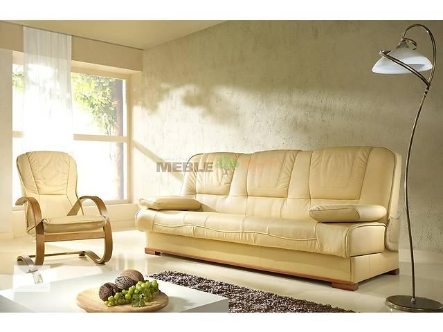 бу Шкіряний комплект розкладний диван + 2 крісла -качалки, класичні меблі,кожаный уголок диван угловой в Дрогобыче