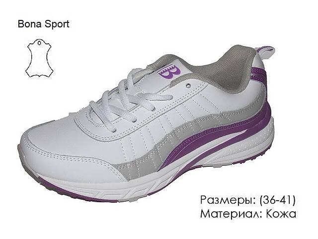 купить бу Кожаные женские кроссовки Bona Бона белые 36-41 в Одессе