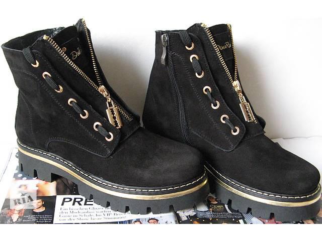 87d00d794 Женские сапоги ботинки натуральная замша супер стильные крутые черевики  Бальман тепло комфортно