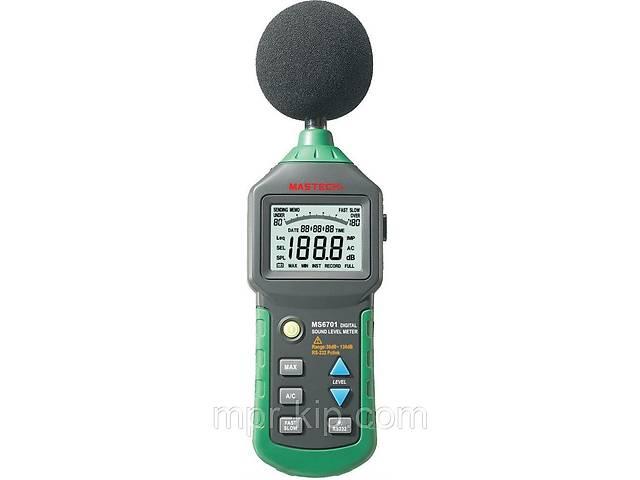 бу Шумомер Mastech MS6701(30-130 dB) в пыле и влагозащищённом прорезиненном корпусе, ПО. Цена с НДС в Львове
