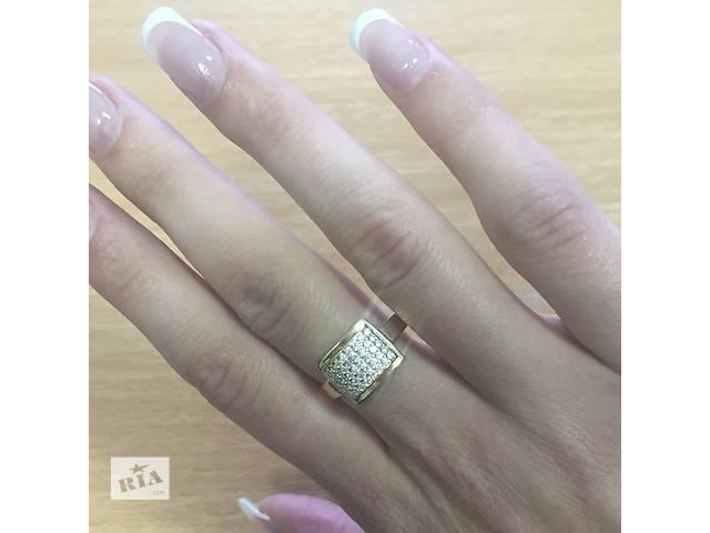 Шикарное золотое кольцо с фианитами - объявление о продаже  в Киеве