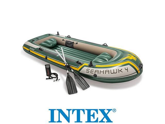 купить бу Каяк байдарка лодка 351cm INTEX 68351 4 - местная, весла, насос в Львове