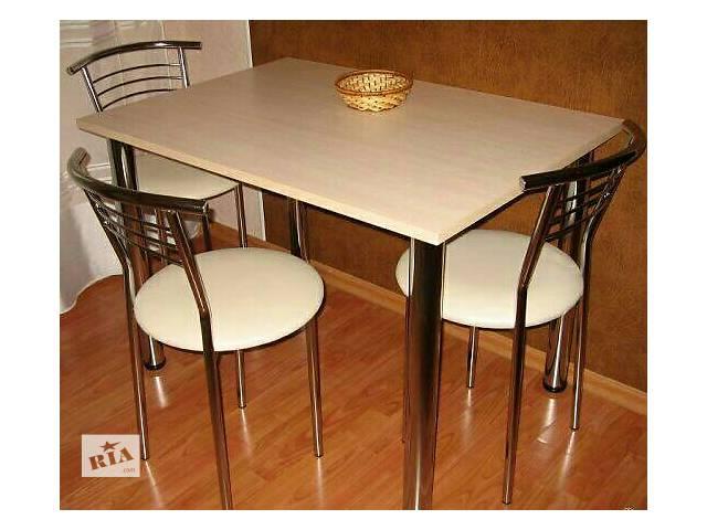 Срочно продам стол и стулья для кухни.- объявление о продаже  в Броварах