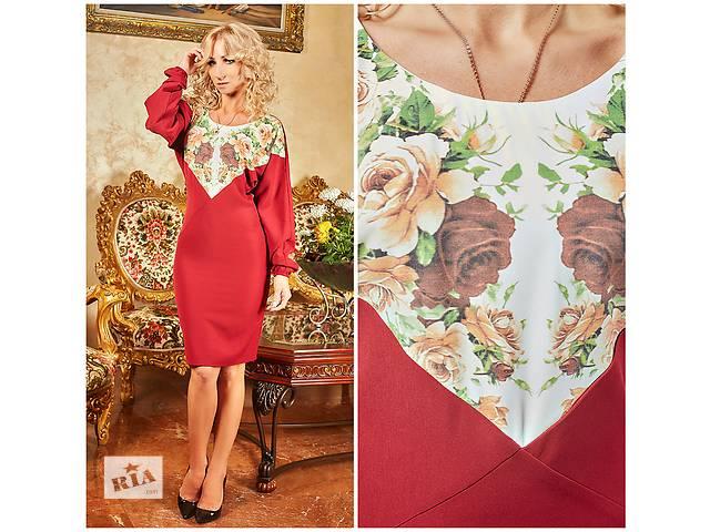 бу Стильное платье с цветочной вставкой в Хмельницком