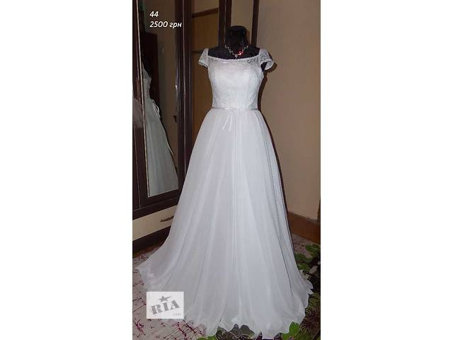 Свадебное платье с завышенной талией, 44 размер- объявление о продаже  в Киеве