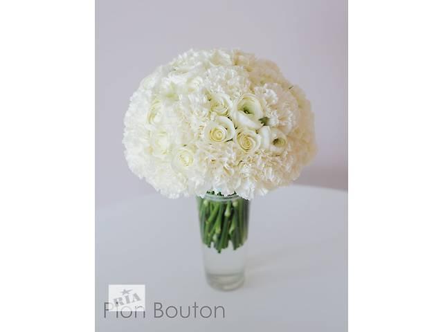Свадебный букет из живых цветов от Pion Bouton- объявление о продаже  в Киеве